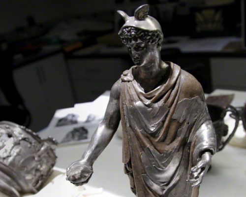 Looking Inside a Reconstructed Roman God