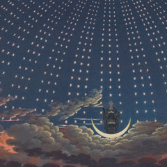 Opera [Set] Decorations (detail): The Magic Flute, Act I, Scene VI / Carl Friedrich Thiele after Karl Friedrich Schinkel