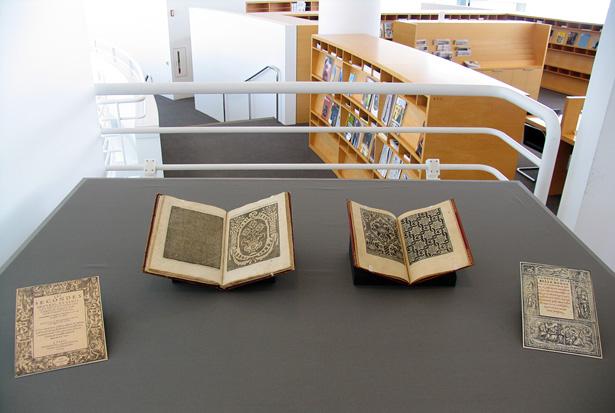 Exhibition Display : Needlework pattern books the getty iris