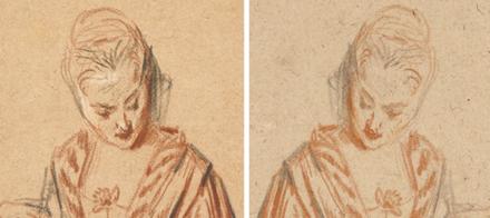 Watteau's Elegant Ladies, Reunited
