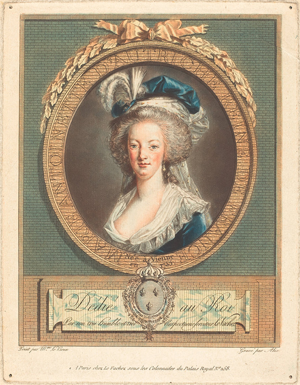 Color print of Queen Marie-Antoinette