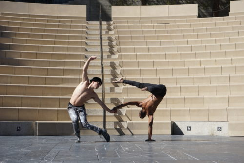 Yoga Artist Creates Living Sculpture at the Getty