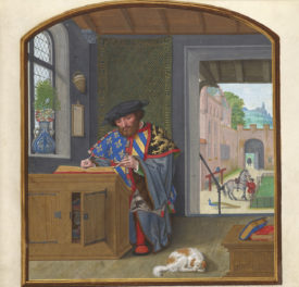 An Artist's Pet Dog Photobombs the Middle Ages