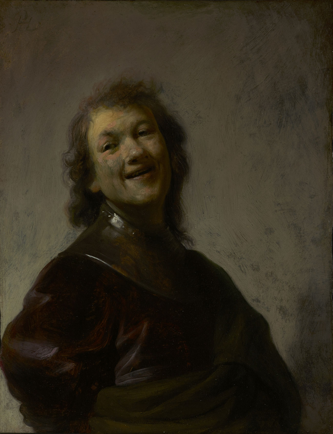 Art Painting Portrait Laughing Person
