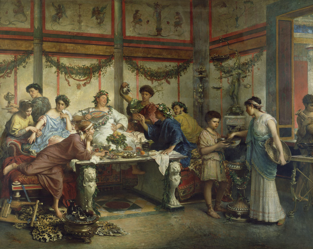 Reclining and Dining (and Drinking) in Ancient Rome