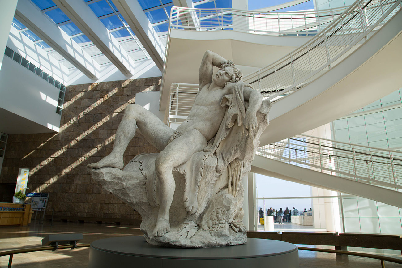 Edme Bouchardon's <em>Sleeping Faun</em> Takes Up Residence in the Getty's Entrance Hall