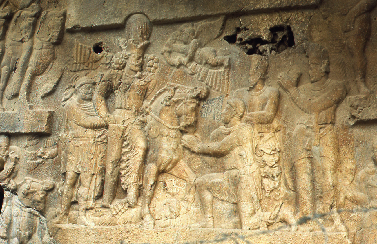 Rock relief at Bishapur, Iran