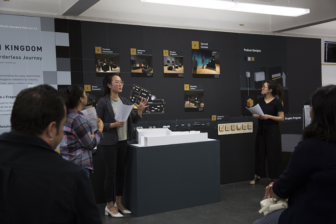 ArtCenter student Hanbi Ko presenting