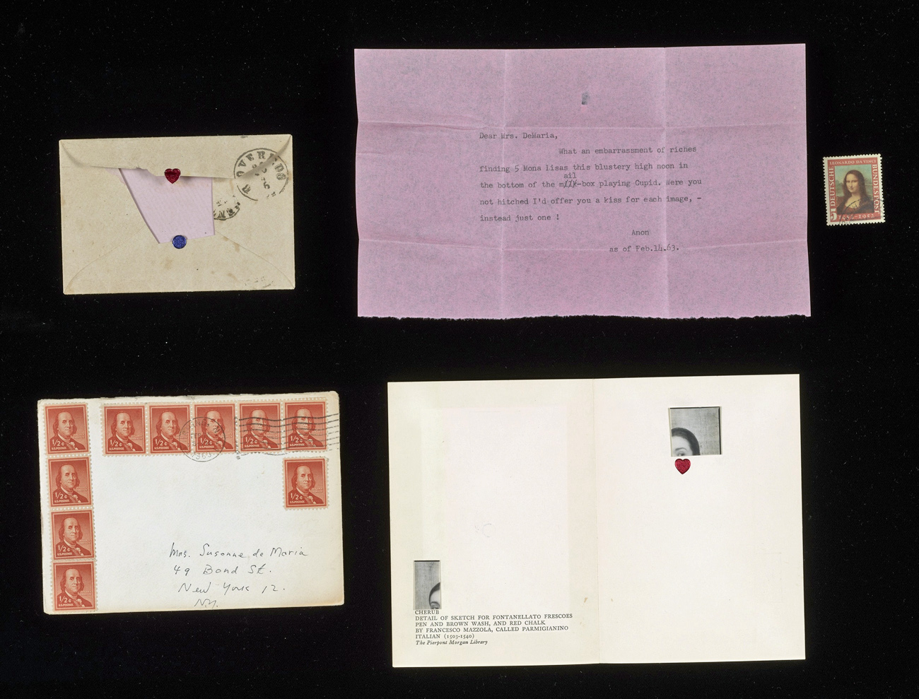 Items enclosed with Joseph Cornell's letter