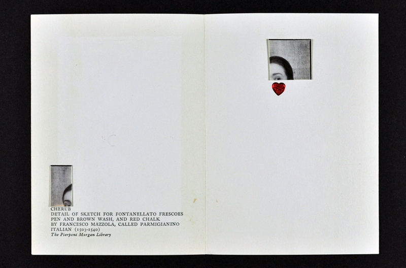 Card collaged by Joseph Cornell