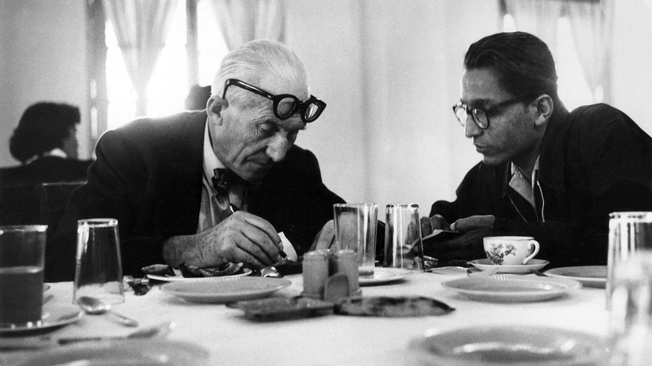 Le Corbusier and Balkrishna Doshi