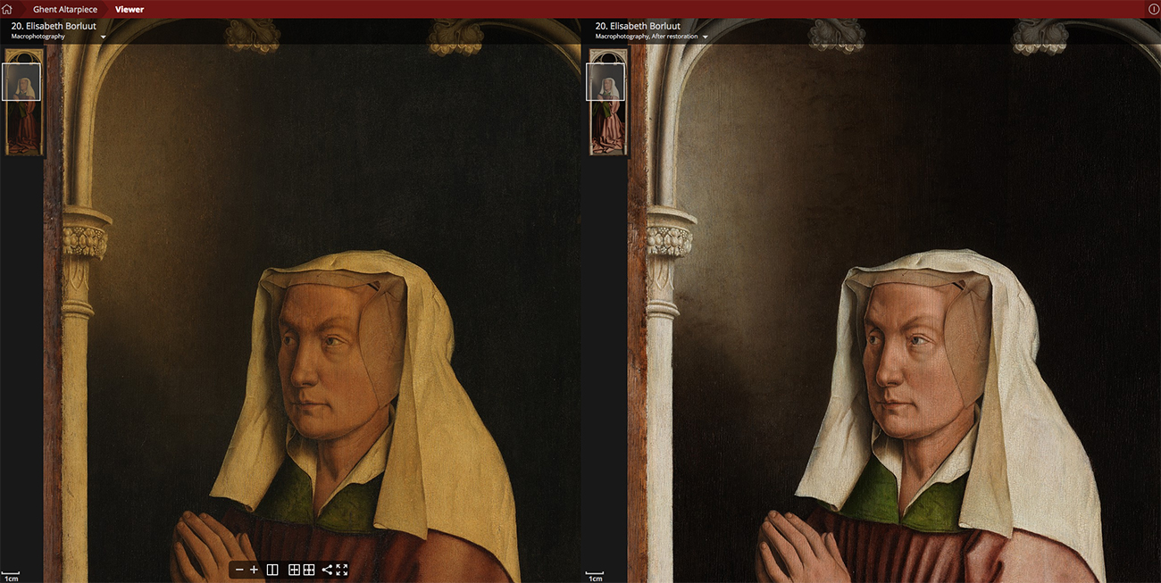 Elisabeth Borluut before and after restoration