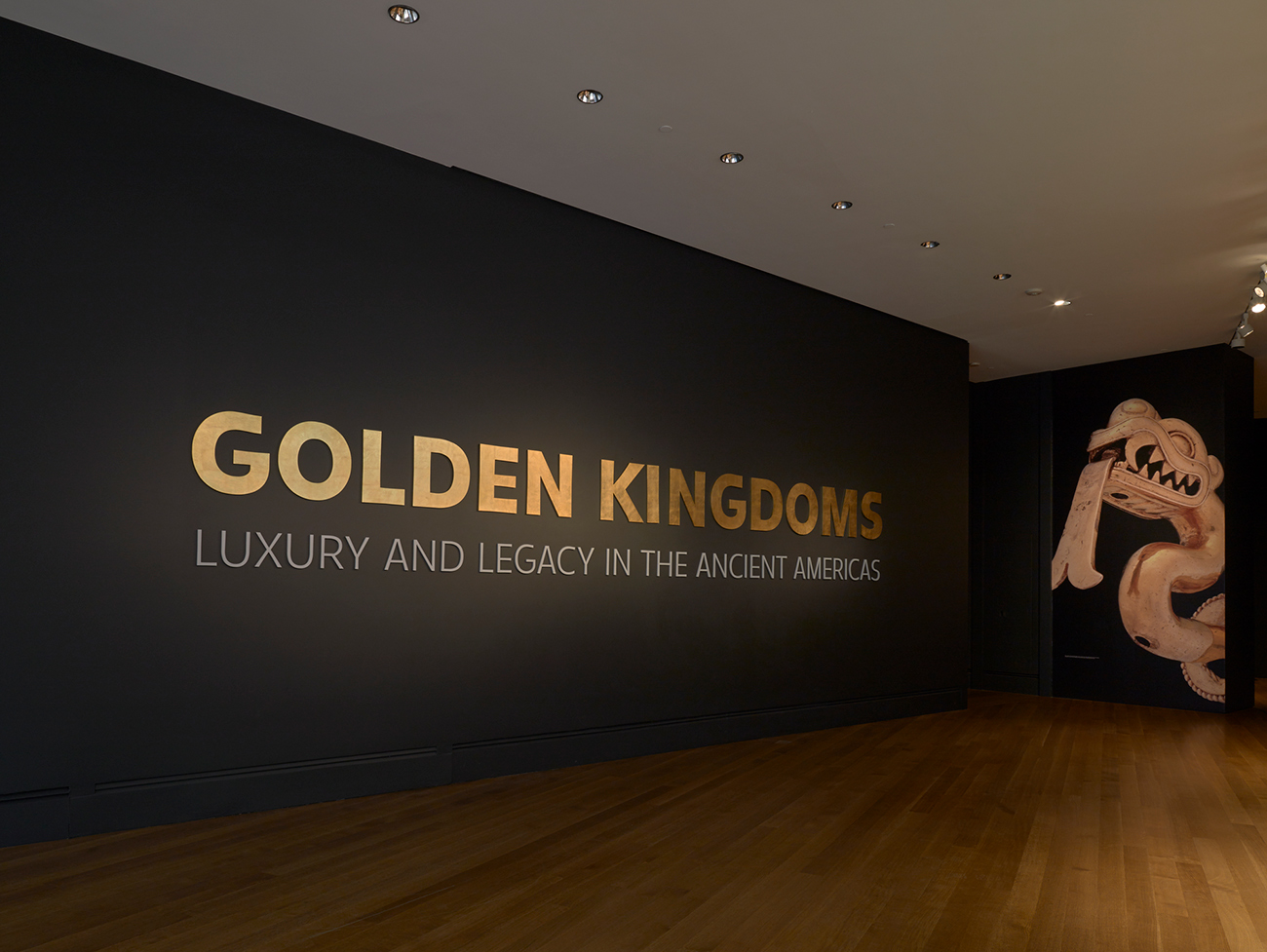 Title wall of Golden Kingdoms at the Getty Center. Photos here and below: Rebecca Vera-Martinez