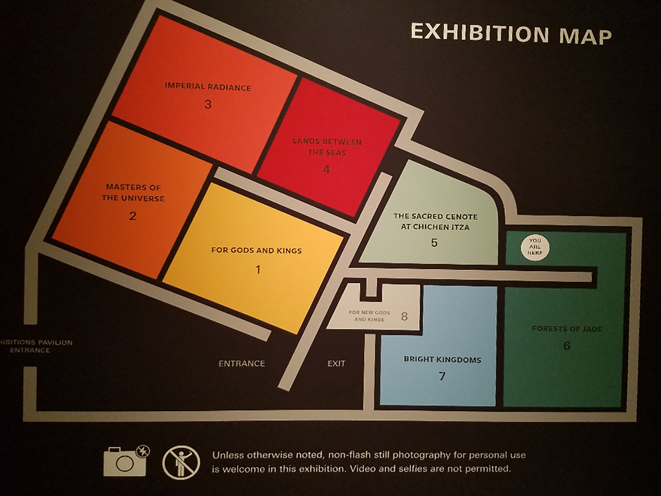 Gallery plan of Golden Kingdoms at the Getty Center.