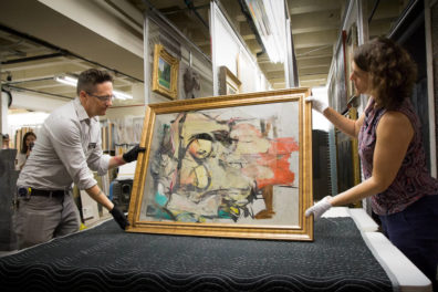 Getty and University of Arizona Partner to Conserve Long-Lost Willem de Kooning Painting