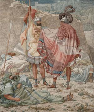 Mercy: David Spareth Saul's Life, 1854, Richard Dadd. Oil on canvas, 24 × 20 in. J. Paul Getty Museum, 87.PA.32