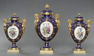 Garniture of Three Vases