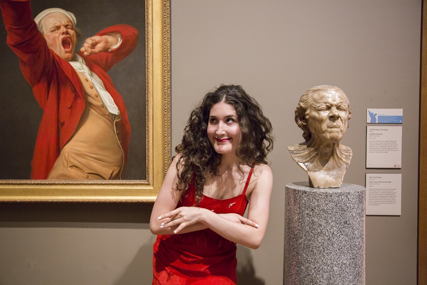 Comedian Kate Berlant at the Getty Center