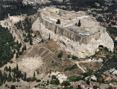 Ancient Greek Theaters, Seen from the Sky
