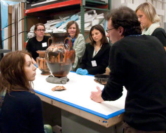 L.A. Teachers Explore Greek Vases in the Collections Store Room at the Getty Villa