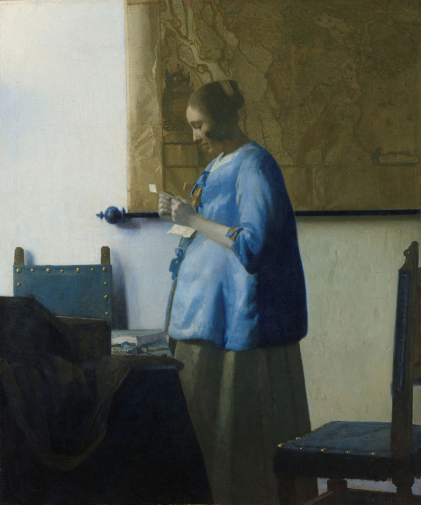 "Write the Opening Line to Vermeer's ""Lady in Blue"" 