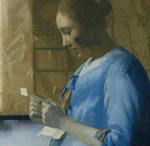 """Write the Opening Line to Vermeer's """"Lady in Blue"""""""