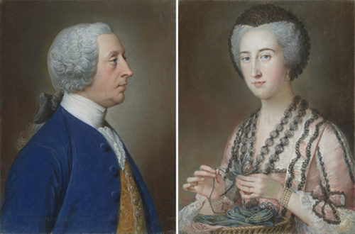Father-and-Daughter Pastels by William Hoare Now on View