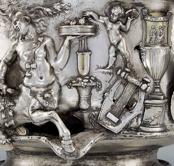 Detail of a silver cup with a Centaur / Roman