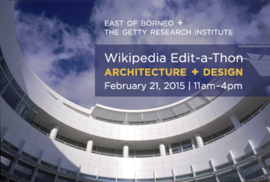 Wikipedia Edit-a-Thon at the Getty Research Institute to Focus on Architecture and Design