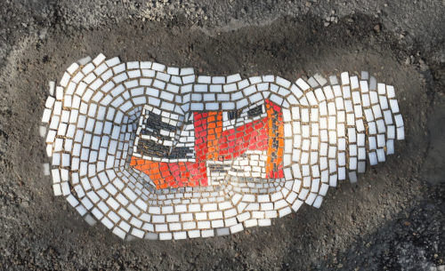 Witty Mosaics Offer a Beautiful Solution to the Pothole Problem