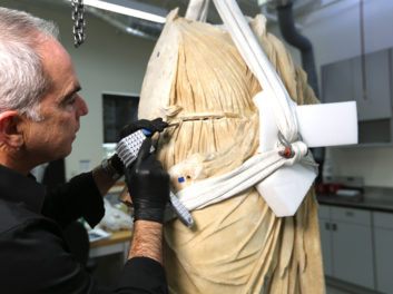 Surprises as an Ancient Statue Is Prepped to Receive Its Missing Head