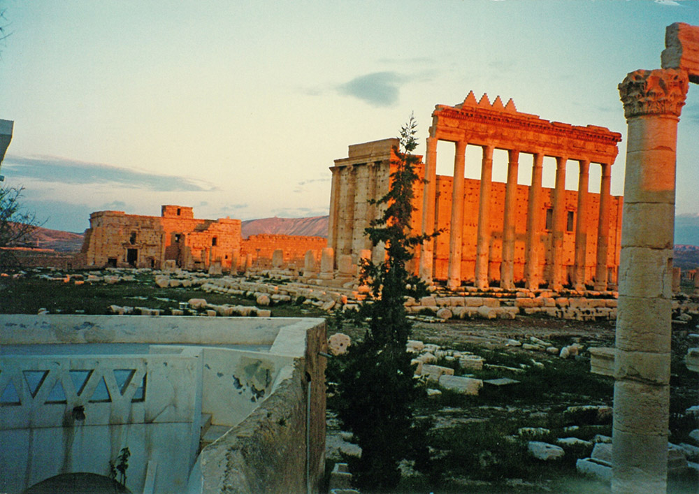 View of the Temple of Bel and the Gate (the Bab)