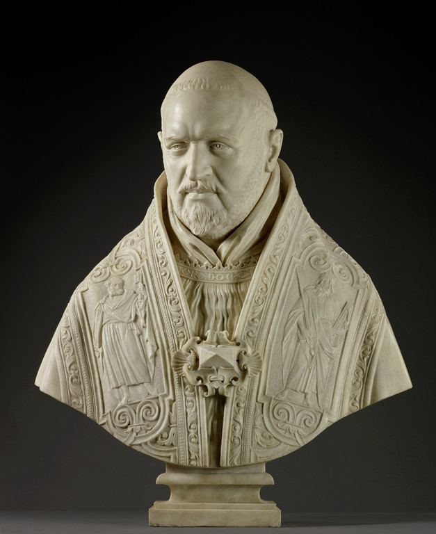 Bust of Pope Paul V, 1621, Gian Lorenzo Bernini. Marble, 30 11/16 in.