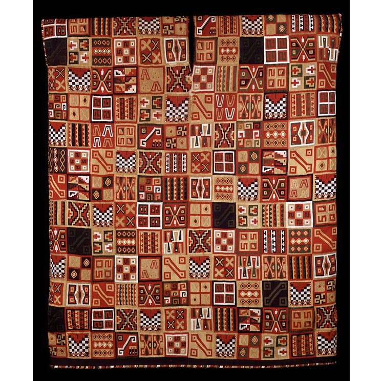 Royal Tunic, ca. AD 1530, Inca. Camelid wefts, cotton warps, natural dyes, 35 × 30 in.