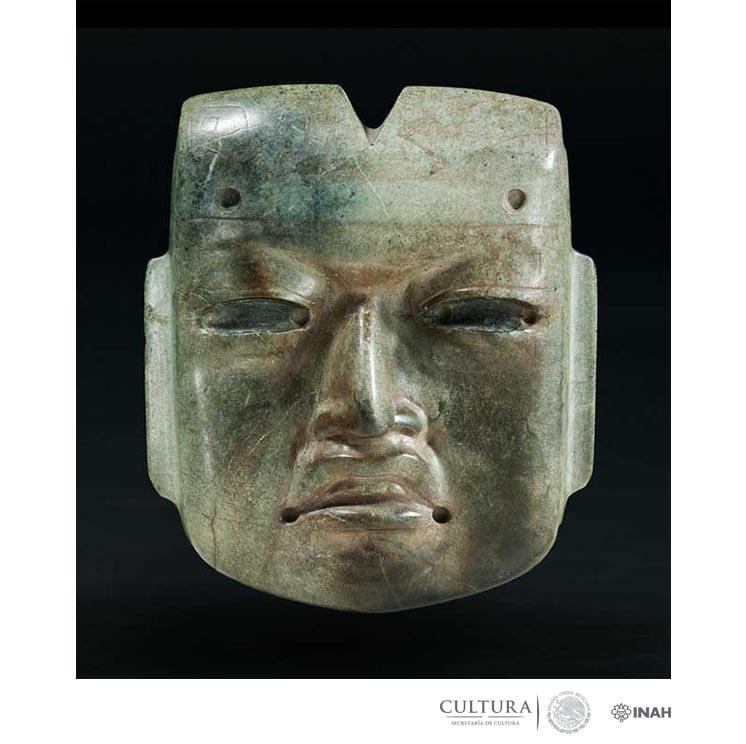 Mask, 800 BC (Fabrication); AD 1469–81 (Deposition), Olmec style. Hornblende hornfels, 41⁄16 × 3 3⁄8 × 15⁄16 in.