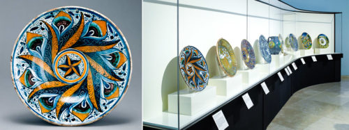 A Renaissance Ceramic Dish Is Reproduced in Miniature