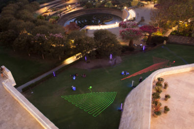 The Potential of a Point, the Direction of a Line, the Clarity of Angles: Lawn Drawings in the Getty Center Gardens