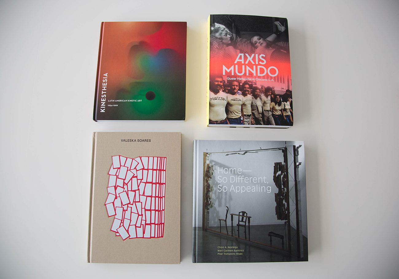 A selection of Pacific Standard Time: LA/LA exhibition catalogs about Latino and Latino American art.
