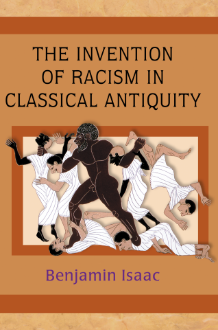 A book cover shows a stylized, menacing black figure on a rampage against white and beige figures