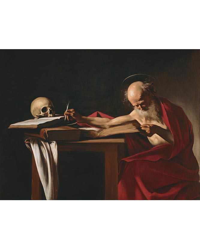 <em/>Saint Jerome, about 1605–6, Caravaggio. Oil on canvas.