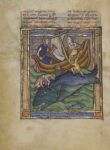 Whale from Bestiary, about 1270, Franco-Flemish. Tempera colors, gold leaf, and ink on parchment, 7 1/2 × 5 5/8 in. The J. Paul Getty Museum, Ms. Ludwig XV 3, fol. 89v. Digital image courtesy of the Getty's Open Content Program