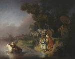 <em/>The Abduction of Europa, 1632, Rembrandt Harmensz. van Rijn. Oil on single oak panel, 25 7/16 × 31 in. The J. Paul Getty Museum, 95.PB.7. Image courtesy of the Getty Open Content Program