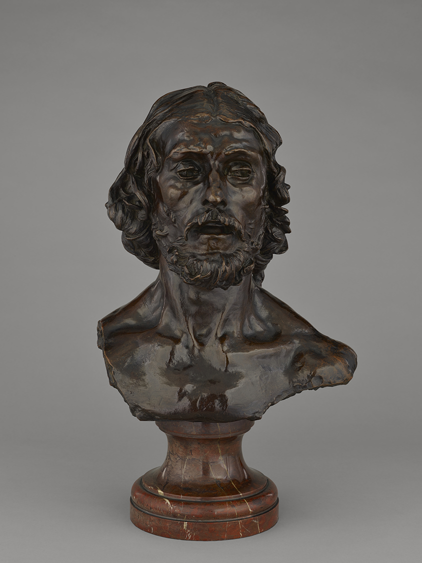 Bust of John the Baptist, model 1880; cast 1886, Auguste Rodin.Bronze with brown patina, 18 7/8 × 15 1/4 × 10 5/8 in. The J. Paul Getty Museum, 2018.33. Digital image courtesy of the Getty's Open Content Program