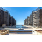 View of the Salk Institute during conservation work