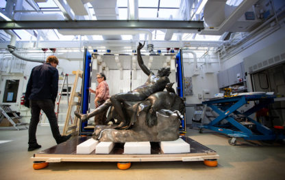 An Introduction to the Drunken Satyr, A Rare Roman Bronze Being Studied and Conserved at the Getty Villa