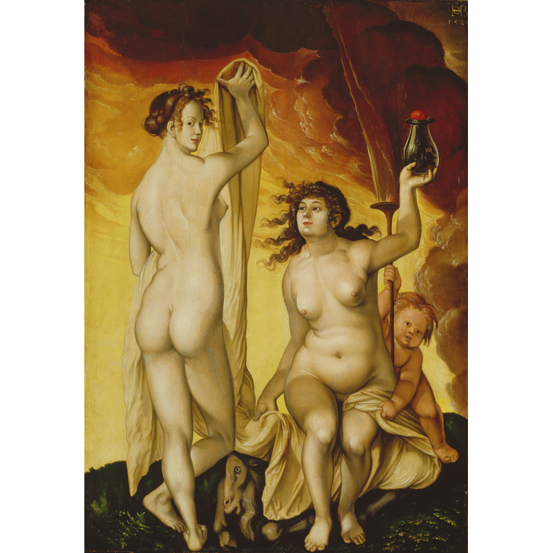 <em/>Two Witches, 1523, Hans Baldung (Grien). Oil on panel, 25 11/16 × 17 15/16 in. Städel Museum, Frankfurt am Main. Photo: © Städel Museum - U. Edelmann - ARTOTHEK