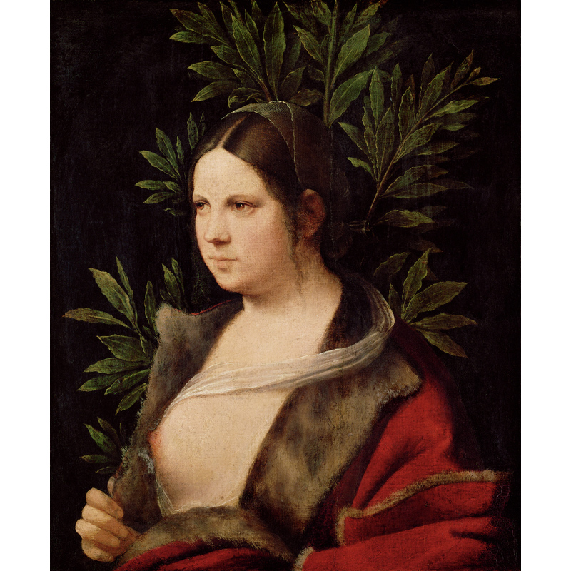 <em/>Laura, 1506, Giorgione (Giorgio Da Castelfranco). Oil on canvas, originally mounted on a softwood panel, 16 1/8 × 13 1/4 in. KHM-Museumsverband, Picture Gallery. Image: KHM-Museumsverband / Kunsthistorisches Museum, Vienna