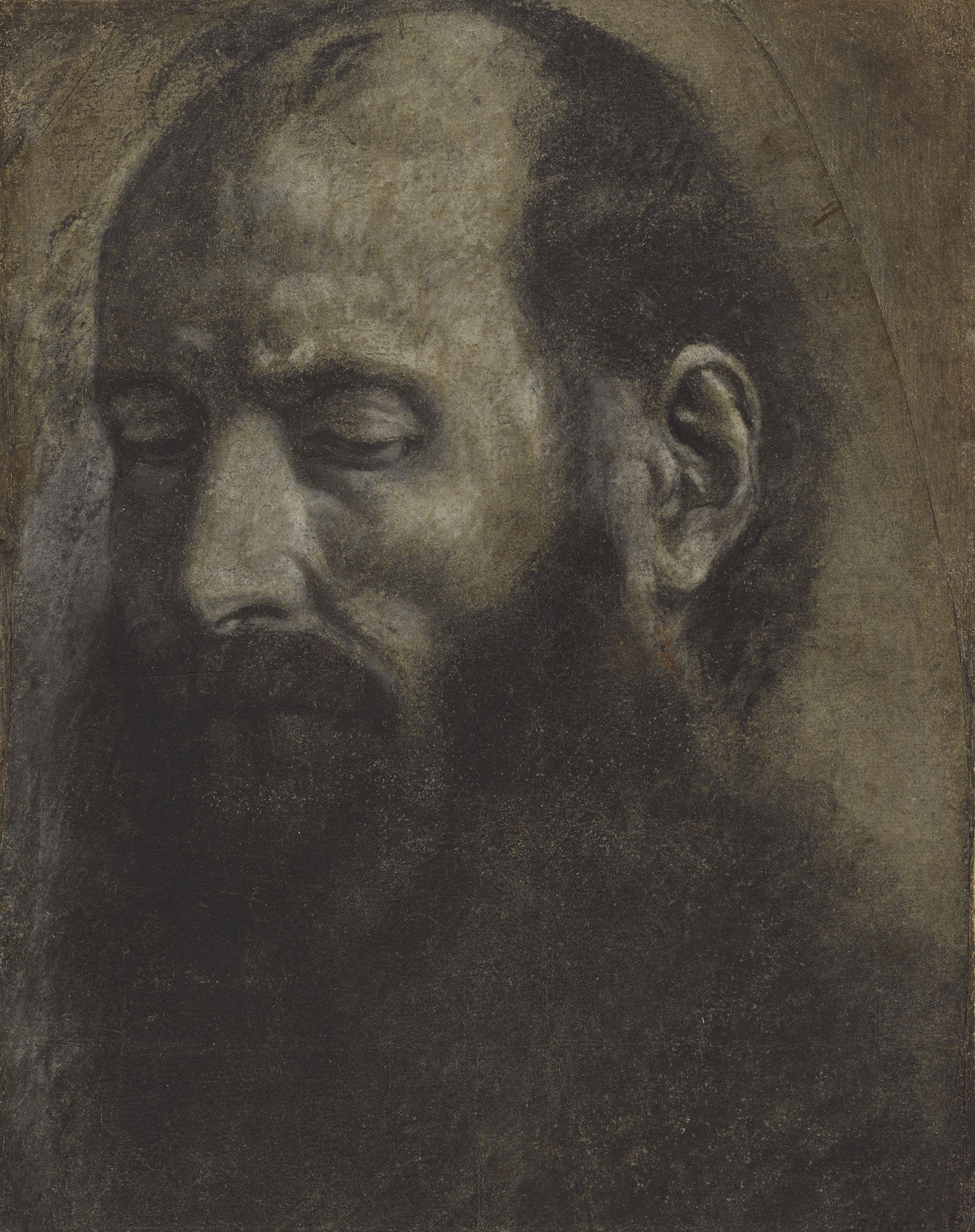 Sketch of a man with a long beard