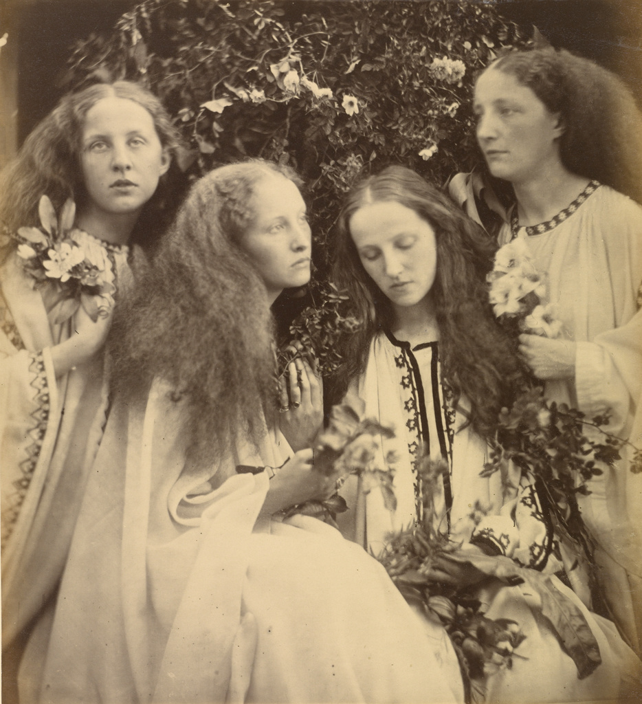 <em/>The Rosebud Garden of Girls, 1868, Julia Margaret Cameron. Albumen silver print, 11 9/16 × 10 1/2 in. The J Paul Getty Museum, 84.XM.443.66. Digital image courtesy of the Getty's Open Content Program.