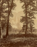 [Yosemite Falls from Below], negative 1865 - 1866; print about 1867, Carleton Watkins. Albumen silver print, 20 3/4 × 16 1/2 in. The J. Paul Getty Museum, 84.XM.493.21. Digital image courtesy of the Getty's Open Content Program